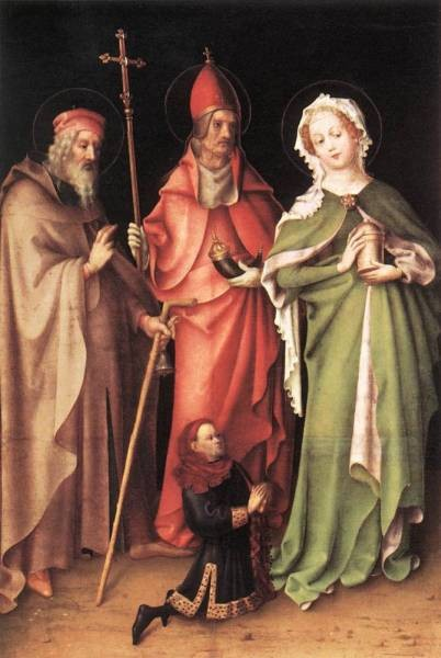 Saints Catherine Hubert And Quirinus With A Donor